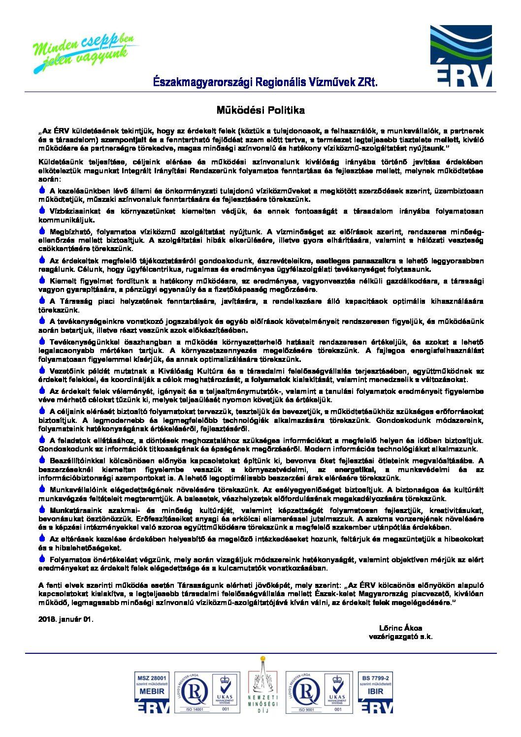 Működési Politika 20180101-m3