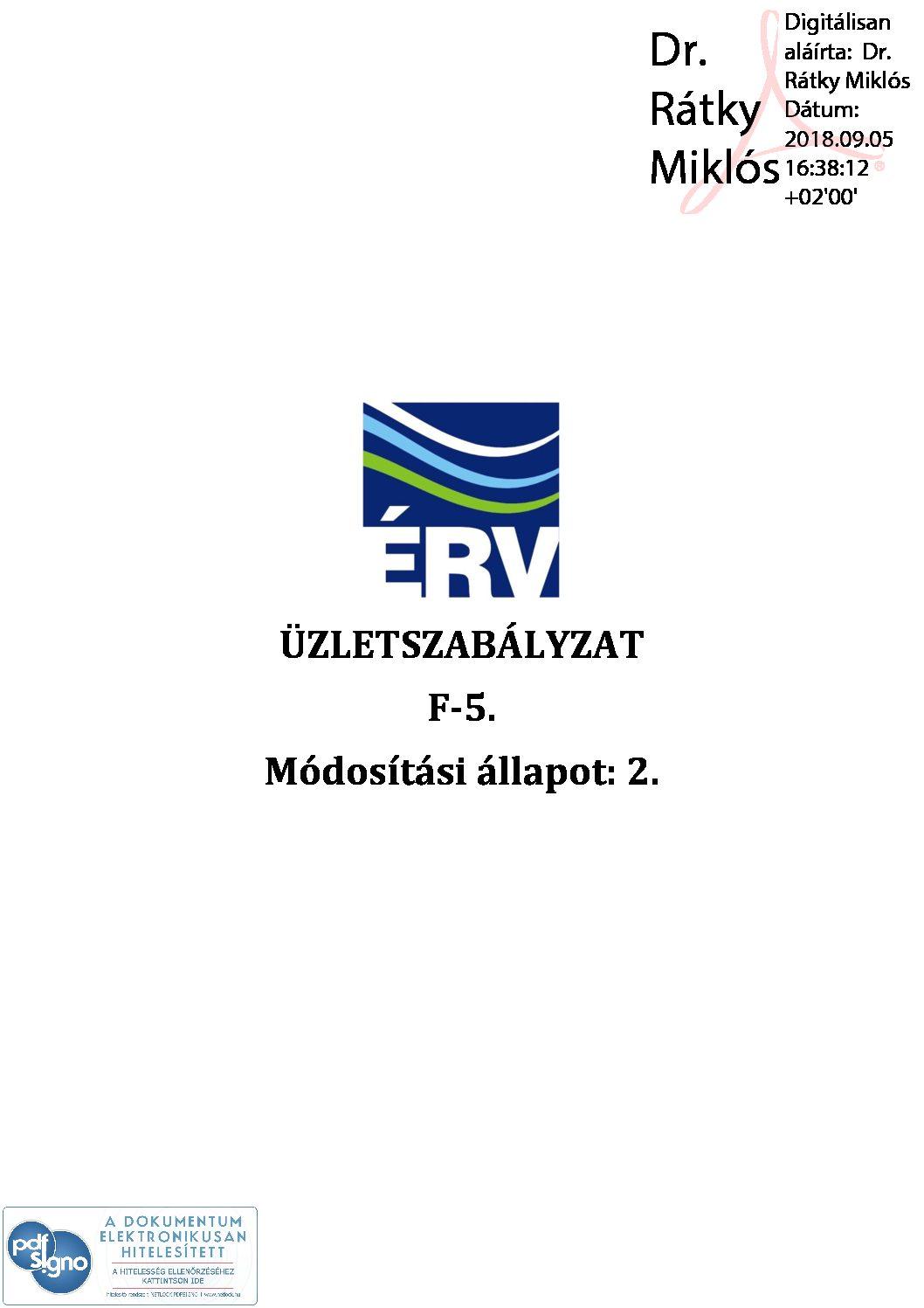 ÉRV_KSFO_2018_368_5_jóváhagyott üzletszabályzat