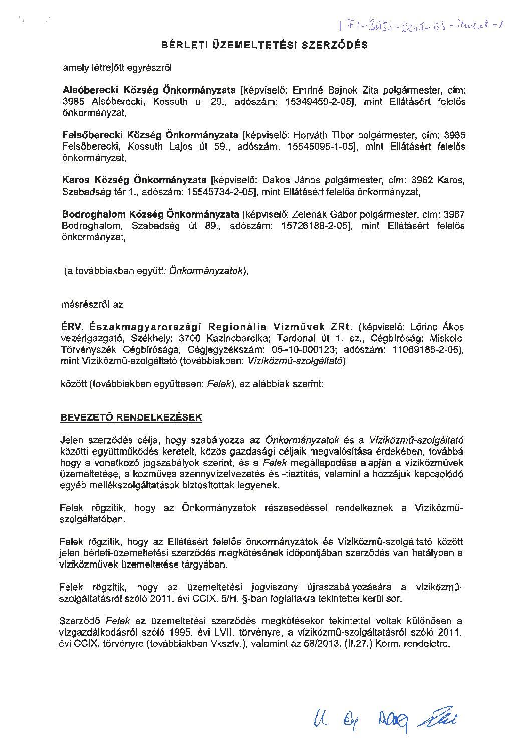 Alsóerecki és társult települések szennyvízrendszer (SZ-80-B-1)