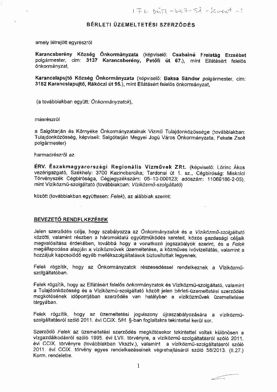 Karancsberény-Karancslapujtő víziközműrendszer (I-1-Á-5)