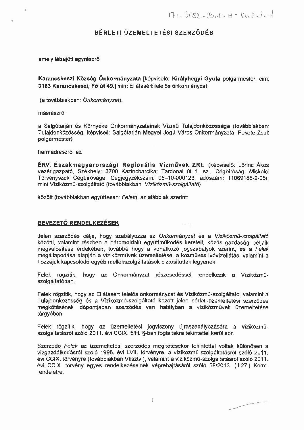 Karancskeszi víziközműrendszer (I-1-Á-4)