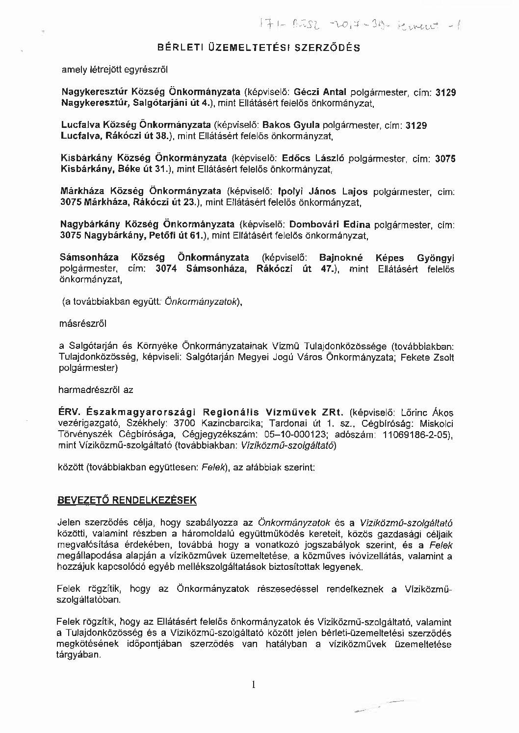 Nagykeresztúr és térsége települések víziközműrendszer (I-4-Á-8)
