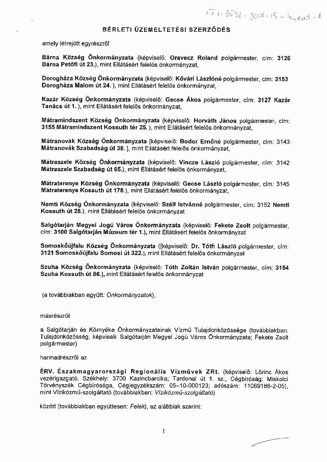 Salgótarján és társult települések víziközműrendszer (I-2-V-1)