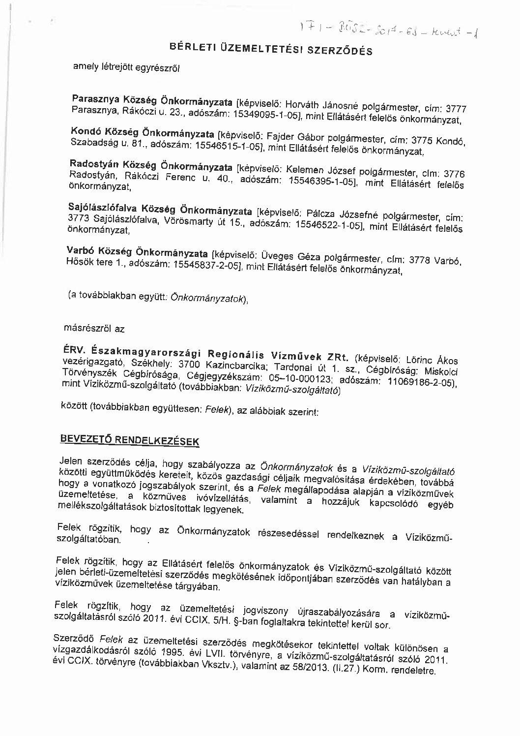 Varbó és térsége víziközmű-rendszer (I-44-B-1)